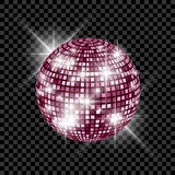 Blue Disco Ball isolated on a transparent background. Vector EPS 10 illustration Stock Photography