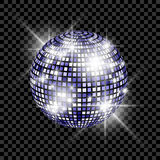 Blue Disco Ball isolated on a transparent background. Vector EPS 10 illustration Royalty Free Stock Photography