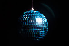 Blue disco ball in shadow Stock Images