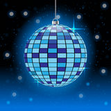 Blue disco ball vector illustration. Rgb mode Royalty Free Stock Image