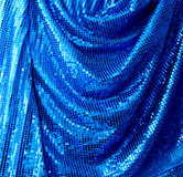 Blue disco glitte canvas Stock Photography