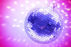 Blue disco globe Royalty Free Stock Photos