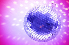 Blue disco globe Stock Photography