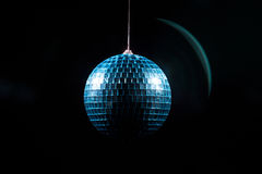 Blue disco globe in shadow Royalty Free Stock Photography