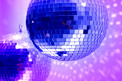 Blue disco globes Stock Images