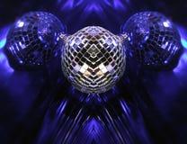 Blue Disco globes Royalty Free Stock Photo