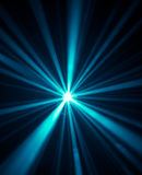 Blue disco lights background. Blue laser rays at the disco Royalty Free Stock Photo