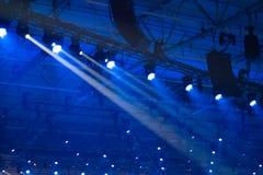 Blue disco lights Royalty Free Stock Image