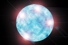 Blue discoball Royalty Free Stock Images