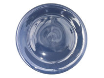 Blue dish ceramic on isolated Royalty Free Stock Photos