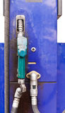 Blue dispensing fuel Stock Photography