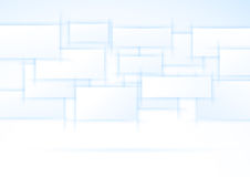 Blue displays hanging in the air Royalty Free Stock Images