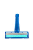 Blue disposable razor blade stock images