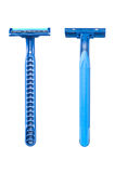 Blue disposable razor blade Royalty Free Stock Photography