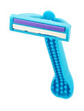 Blue disposable safety man razor Stock Images