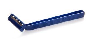 The blue disposable safety razor Stock Photos