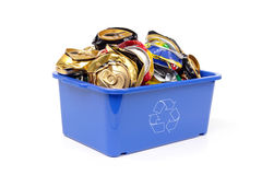 Free Blue Disposal Bin And Beer Can Stock Photos - 2029593