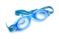 Blue dive goggles Royalty Free Stock Image