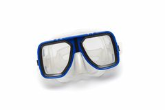 Blue diving mask Stock Image