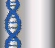Blue dna Royalty Free Stock Images
