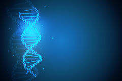 Blue DNA backdrop Stock Images