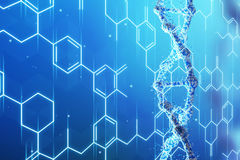 Blue DNA chain and formulas Stock Photos