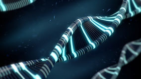 Blue DNA concept with glow Royalty Free Stock Photos