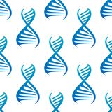 Blue DNA seamless pattern Stock Photos