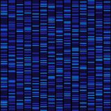 Blue Dna Sequence Results on Black Seamless Background. Vector. Illustration Stock Photo