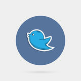 Blue doddle  bird Stock Image