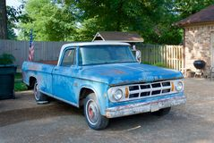 Blue Dodge antique truck Royalty Free Stock Photos