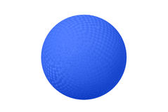 Blue Dodge ball. A classic dodge ball isolated on white shows the crosshatch patterns used for grips Royalty Free Stock Image