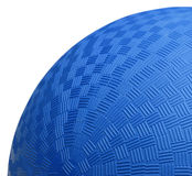 Blue Dodge Ball Close Up. Close up Section of Blue Dodge Ball Isolated on White Background Stock Image