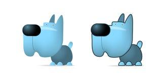 Blue dog. Illustration on white Royalty Free Stock Image