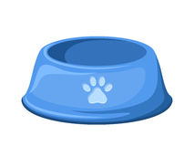 Blue dog bowl. Vector illustration. Royalty Free Stock Photo