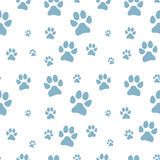 Blue dog footstep seamless pattern Stock Photos