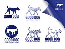 Blue dog  logo vector design elements style Royalty Free Stock Images