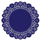 blue doily rundę królewski koronki royalty ilustracja