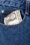 blue dollars jean Стоковая Фотография
