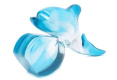 Blue dolphin Stock Image