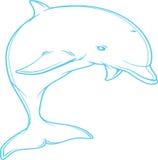 Blue dolphin Royalty Free Stock Photo