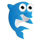 Blue dolphin cartoon Stock Photo