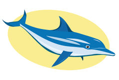 Blue dolphin Royalty Free Stock Image