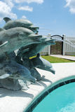 Blue dolphin fountain Royalty Free Stock Photos