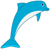 A blue dolphin Royalty Free Stock Image