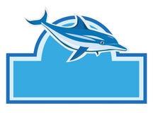 Blue dolphin. In marine logo Stock Photos