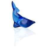 Blue dolphin on white background Royalty Free Stock Image