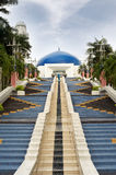 Blue dome. Of t astronomical observatory on the stairs in Kuala Lumpur, Malaysia, Asia royalty free stock photography