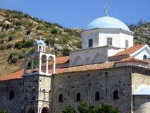 Blue Dome. Greek cathedral on Samos Island, Greece Stock Photo