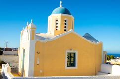 Blue dome chapel, santorini Stock Photo